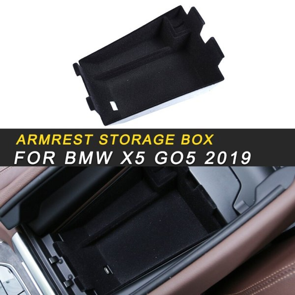 Armrest Storage Organizing Box Case Interior Accessories Stowing Tidying for BMW X5 2019 G05 Car Styling