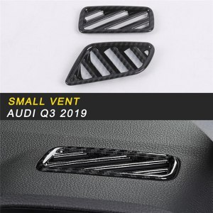 Car Styling Small A/C Air Vent Outlet Front Panel Cover Trim Frame Sticker Interior Accessories for Audi Q3 F3 2019