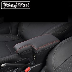 Car styling Multi-function BIG SPACE+LUXURY+USB armrest Storage content box stowing tidying fit for Honda Fit 2014 2016 2018
