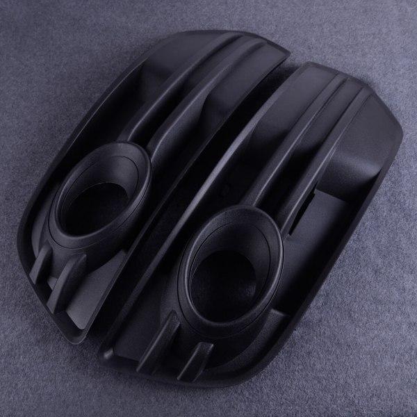 Fit For AUDI Q5 2009 2010 2011 2012 Plastic Black Car Front Bumper Vent Grill Fog Light Grille Cover 8R0 807 681 A/8R0 807 682 A