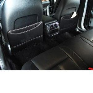 lsrtw2017 high quality fiber leather car seat anti-kick mat for lincoln continental 2016 2017 2018 2019 armrest anti-kick mat