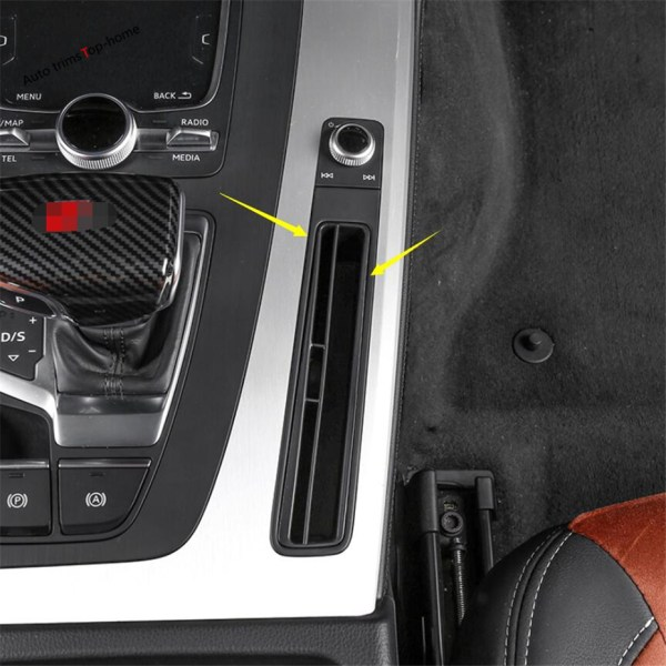 Yimaautotrims Middle Control Card Storage Bank Card Molding Cover Trim Fit For Audi Q5 2018 2019 Plastic / Interior Mouldings