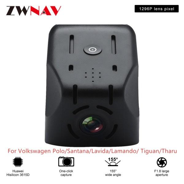 Hidden Type Driving recorder dedicated For Volkswagen Polo/Santana/Lavida/Lamando/ Tiguan/Tharu DVR Dash cam Car front camera