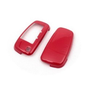 Hard Plastic Keyless Remote Key Protection Case Cover (Gloss Red) For Audi