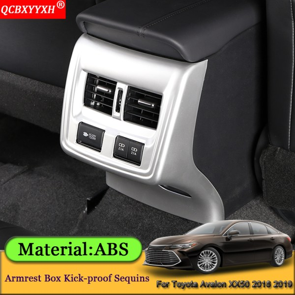 Car Styling Car Armrest Box Kick-proof Sequins Rear Air Outlet Sticker Automobile Accessories For Toyota Avalon XX50 2018 2019