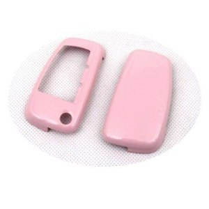 Hard Plastic Keyless Remote Key Protection Case Cover (Gloss Pink) For Audi
