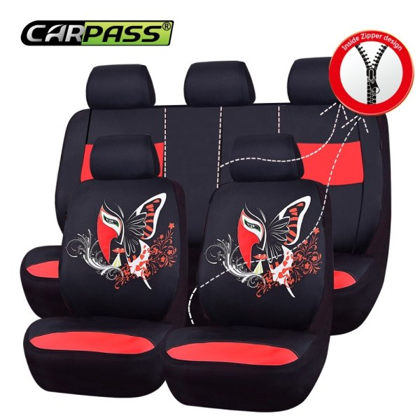 Car-pass Car Seat Covers Luxury Car Goods Auto Interior Accessories Aritificial Leather Car Seat Cover for renault logan 2 lada