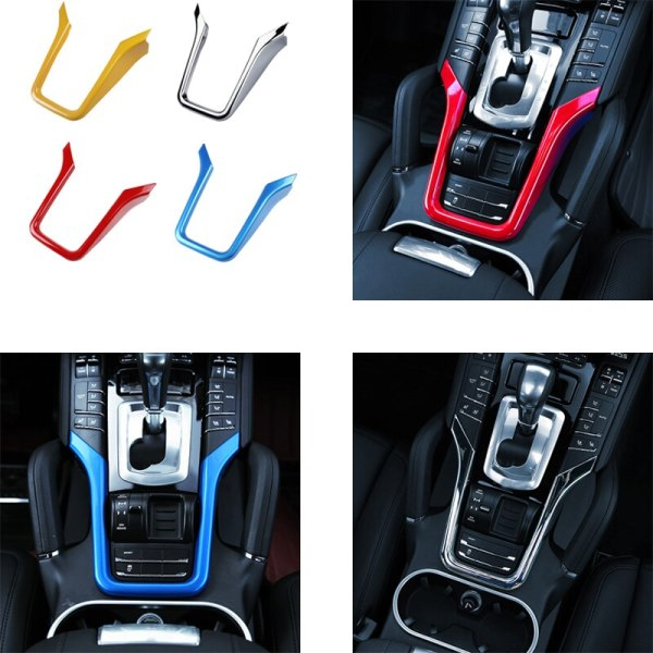For 2011-2017 PorscheE Cayenne Cockpit console Interior modifications Chrome Trim Decoration Accessories Tricolor