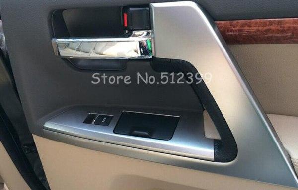 2008-2016 Inner ABS Door Armrest Stripe Cover Trim For Toyota Land Cruiser LC200
