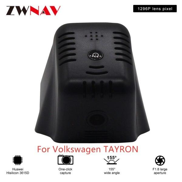 Hidden Type HD Driving recorder dedicated For Volkswagen TAYRON DVR Dash cam Car front camera WIfi