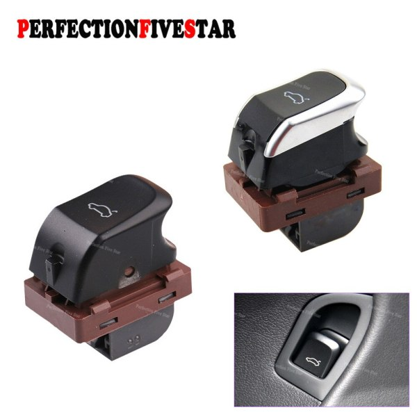 8KD959831 4H0959831 Trunk Chrome Switch Trunk Lid Control Button For A4 B8 2008-2015 A5 8T Q5 2009-2015 8R S4 S5