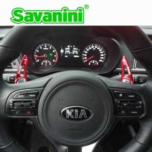 Savanini Aluminum Steering Wheel DSG Shift Paddle Shifter Extension For Kia K5 Optima (2016) Sorento 2016 auto car styling