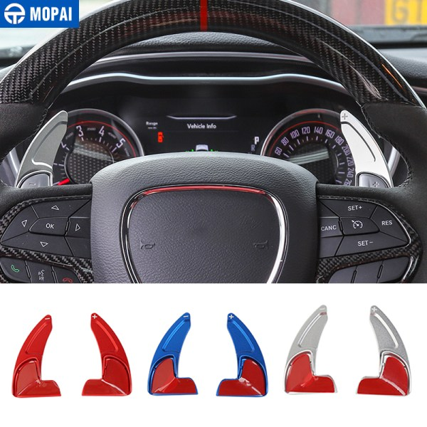 MOAPI Car Interior Steering Wheel Shift Paddles Decoration Trim Accessories for Dodge Challenger 2015+ for Dodge Charger 2015+