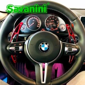 Savanini Steering Wheel Aluminum Shift Paddle Shifter Extension for BMW M2 M3 M4 M5 M6 X5M X6M auto Car Accessories