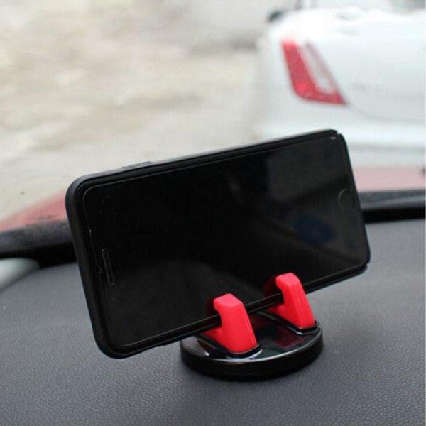 Car Silicone Anti Slip Mount Mobile GPS Adjustable Bracket For HYUNDAI IX35 Solaris Opel Mokka kia sportage Audi a4 b8