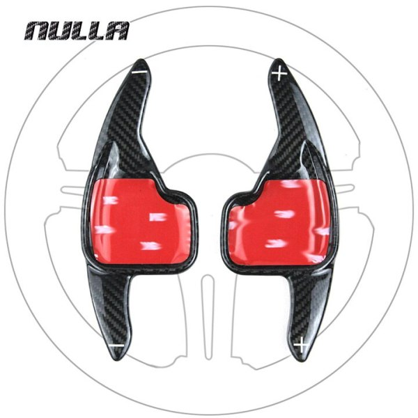 NULLA Carbon Fiber Steering Wheel Extension Interior Paddle Shift For BMW 2 3 4 5 6 7 Series GT F30 F31 F32 F10 F20 F22 X4 Z4