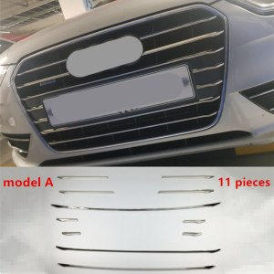 CNORICARC Front Bumper Air Grille Grill Decor Cover Trim For Audi A4 B8 2013-2016 Stainless Steel Car Styling Exterior Modified