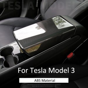 Center Car Armrest Box Cover Decoration Protector Car Accessories For Tesla Model 3