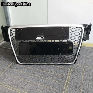 Honeycomb Mesh Front Grill Grille for Audi A4 B8 S4 RS4 S Line 2009-2012 RS4 Style