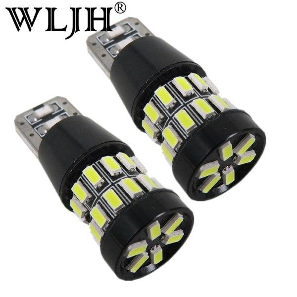 WLJH 2pcs LED T10 W5W 12v Car LED Bombillas Light Lamp Bulb White Red Yellow Libre De Errores Sidelights for Audi A4 B5 B6 B7 B8
