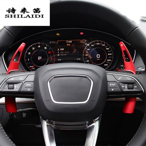 Car styling For Audi A6 c8 Steering Wheel Shift Paddle Extension Shifters Replacement Covers Sitckers Interior Auto Accessories