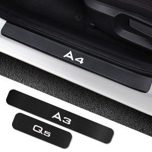 Car Door Sills Sticker For Audi A4 B5 B6 B7 B8 B9 A3 8P 8V 8L A5 A6 C6 C5 C7 A1 A7 A8 Q2 Q3 Q5 Q7 RS3 RS4 RS5 RS6 TT Accessorie