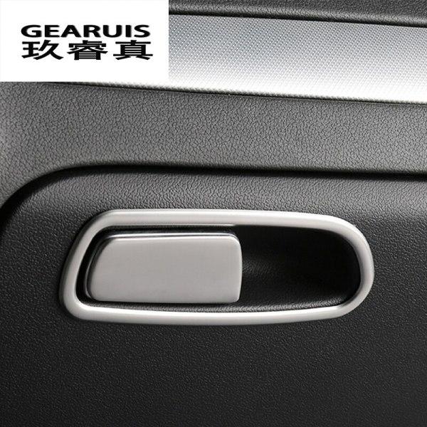 Car Styling Copilot Storage Box Switch Handle Sticker cover decoration trim frame for Audi A4 B8 A5 Q5 Interior Auto accessories