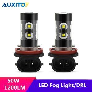 Led Fog Light H11 H7 H8 H9 H3 H1 White 50W LED Bulb DRL Auto Lamp For Audi 100 A4 B8 C5 Q5 A3 B6 B7 A5 A6 C6 C7 Q3 Q7 TT S3