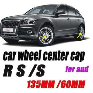 4pcs/lot Car emblem badge For S R.S A3 A4 B6 B5 A1 B7 B8 A7 Q3 Q5 Q7 S4 135mm 5Claw 60mm Covers Car Wheel hub center Caps