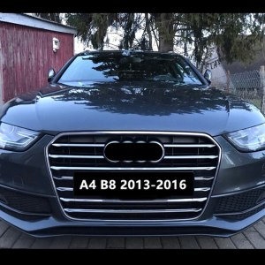 11pcs Stainless Steel Car Front Grill Grille Decorative Cover Trim Strips For Audi A4 B8 2013-2016 Car Styling Decals