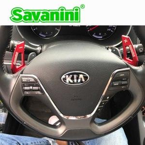 Savanini Aluminum Steering Wheel DSG Shift Paddle Shifter Extension For Kia K3 K3S Auto car Styling accessories