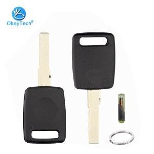OkeyTech For Audi A3 A4 A6 B6 B7 B8 C5 C6 Q7 Transponder Car Key Shell Case Fob Uncut HU66 Blade with ID48 Blank Chip/ Key Ring