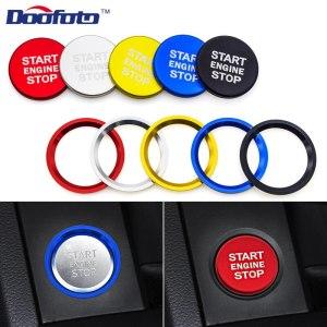 Doofoto Car Start Stop Engine Button Cover Ring For Audi S line A4 B8 B6 A7 A8 C6 Q3 Q5 A5 C7 TT Car Accessories Case