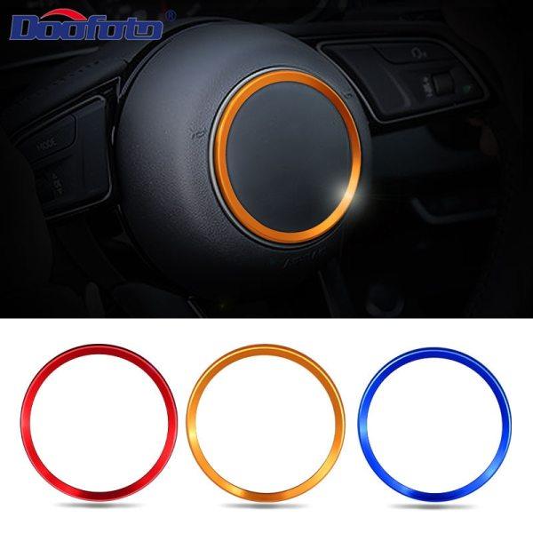 Doofoto Steering Wheel Cover Ring Car Sticker For Audi S line A3 A4 B8 B6 A6 A7 A8 C6 Q3 Q5 Q7 A5 C7 TT Decoration Styling