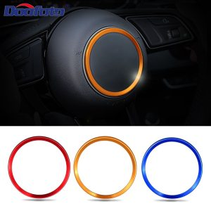 Doofoto Steering Wheel Cover Ring Car Sticker For Audi S line A3 A4 B8 B6 A6 A7 A8 C6 Q3 Q5 Q7 A5 C7 TT Decoration Styling