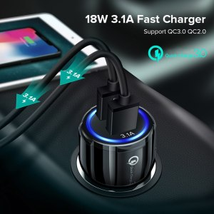 Quick Charge 3.0 Car Charger Cigarette Lighter Socket Adapter For Audi A3 A4 A5 A6 A7 A8 B6 B7 B8 C5 C6 TT Q3 Q5 Q7 S3 S4