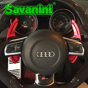 Savanini Aluminum Car Steering Wheel Shift Paddle Shifter Gear Extention For Audi A3/A4L/A5/Q3/Q5/TT/S3/R8 Car styling