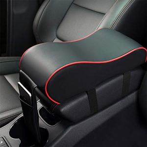 MeiBoAll Car Armrest Cushion,Memory Foam Car Armrest Pad,Auto Center Console Armrest Pillow with Phone Holder Storage Bag Universal Fit for Most Car