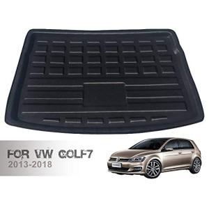 HZGrille Rear Cargo Liner Trunk Floor Mat for Trunk Modification of VW Golf7 (2013-2018), Waterproof Rubber Mats Provide All-Weather Protection,Black