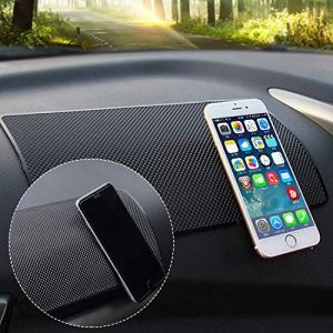 Hulless 10.6 x 5.9 inch Super Sticky Car Dashboard Anti Slip Mat Magic Anti Slip Mat Car Dashboard Sticky Pad Adhesive Mat for Cell Phone, CD, Electronic Devices, Keys, Sunglasses, etc, 1pcs.