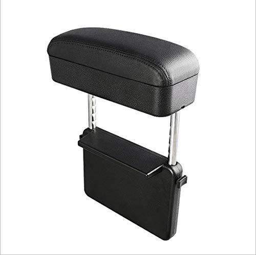 LFJNET Car Armrest Box Adjustable Central Armrest Pad Car Styling Universal Protective Armrest Box Pad Center Console Support Black Black line