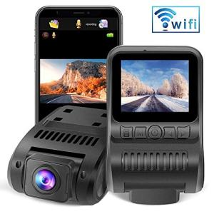 """Upgraded Dash Cam Built in WiFi 1080P FHD Mini Car Dashboard Camera Recorder with 2.0"""" LCD Screen 170°Wide Angle, Super Night Vision, G-Sensor, WDR, Parking Monitor, Loop Recording, Motion Detection"""