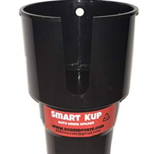 SMART KUP Car Cup Holder for Hydro Flasks 32 oz and 40 oz, Nalgene 32 oz and Other Large Bottles up to 3.8 inches Wide. 3 inch Upper Cup Will Hold Your Items Unlike The competitors.Black