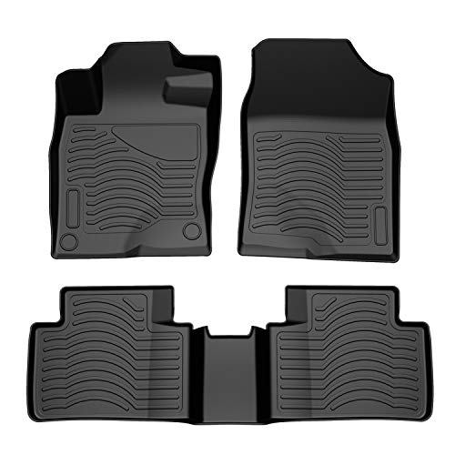 COOLSHARK Honda Civic Floor Mats, Custom Fit Floor Liners for 2016-2020 Honda Civic Sedan or Hatchback, Full Set Floor Mats All Weather Protection,Black Color