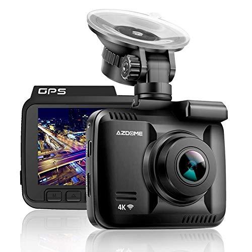 "4K Car Dash Cam, 2.4"" Dash Camera Recorder WiFi GPS, 170 °Wide Angle Dashboard Camera with G-Sensor, WDR Super Night Vision, Loop Recording,Parking Monitor,SOS Protection,Motion Detection"