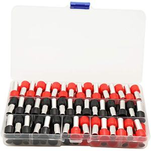 70PCS 4 Gauge Ferrule Connectors End Terminal Insulated Ferrule .Work Great for 4 Gauge Car amp. Clean Install. Widely Used in Electronics, Communication Equipment. (Black+Red)