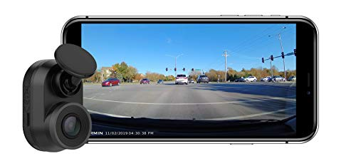 Garmin Dash Cam Mini, Car Key-Sized Dash Cam, 140-Degree Wide-Angle Lens, Captures 1080P HD Footage, Very Compact with Automatic Incident Detection and Recording