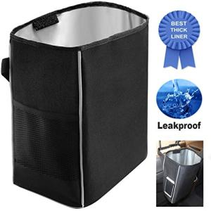Car Trash Can, Car Garbage Can, Car Trash Bag, 2.2 Gallons Black Hanging Waterproof Leakproof Thicken, Collecting Car Trash and Sorting Items for Your Car, Truck and SUV