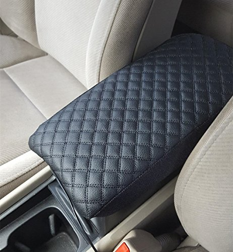 Leather Center Console Lid Armrest Cover Protector Decoration for Nissan Maxima 2008-2014 Black