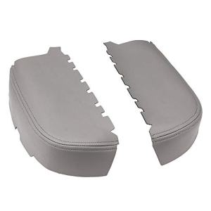 Front Door Panel Armrest Cover for 2009-2013 Honda Pilot Leather Armrest Replacement Gray